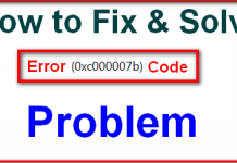 Error Code 0xc000007b