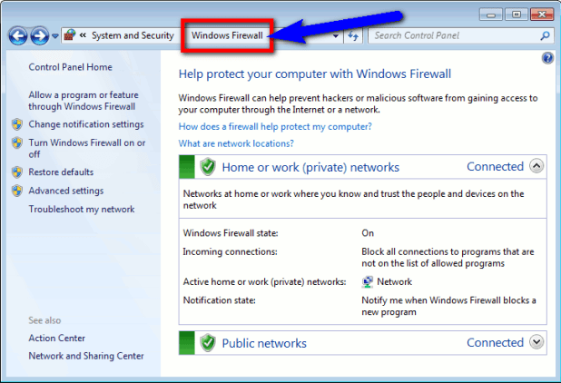 Checking Firewall or Local Proxy Settings