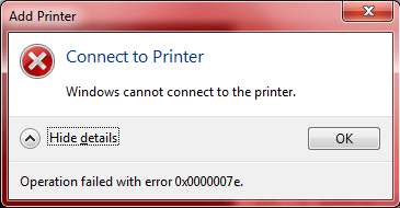 Error 0x0000007E