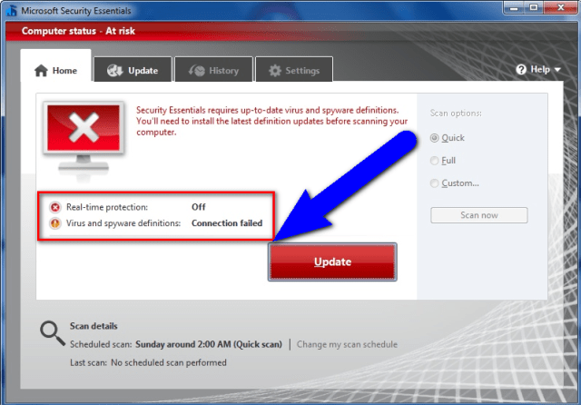 Fix Antivirus Program Error 0xc000007b