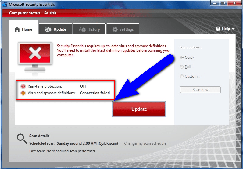 Fix Antivirus Program Error 0xc000007b