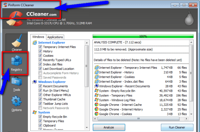 Fix by Cleaning the Registry from Ccleaner Runtime Error r6034