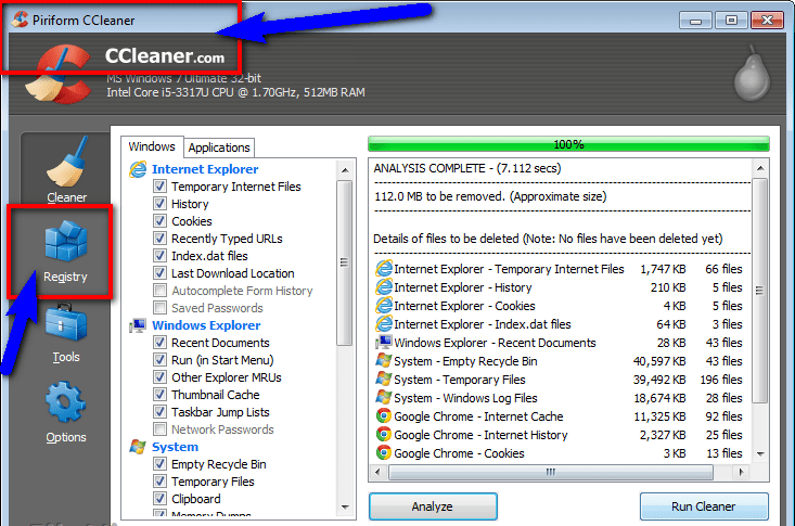 Fix by Cleaning the Registry from Ccleaner BUGCODE_NDIS_DRIVER