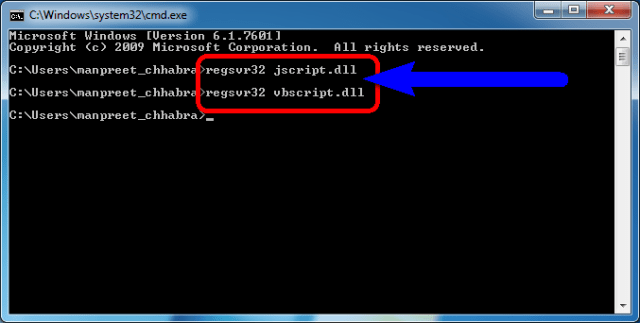Fix by Command Prompt