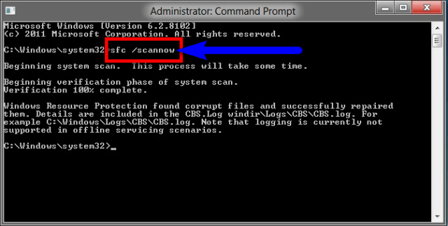 Fix by running sfc/scannow in Cmd The Device Does Not Recognize The Command