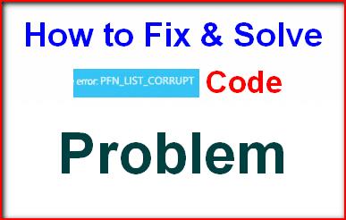 PFN_LIST_CORRUPT
