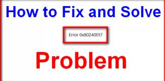 Error 0x80240017