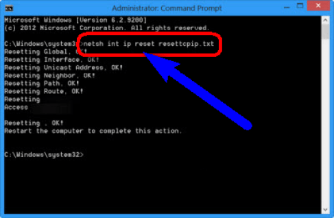 Reset TCP/IP on your PC
