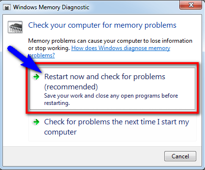 Run Windows Memory Diagnostic to check for system's memory KMODE_EXCEPTION_NOT_HANDLED