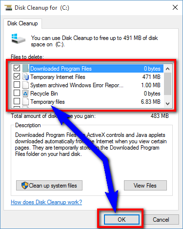 Run a Disk Cleanup of your PC Error 1722