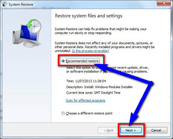 DRIVER VERIFIER DETECTED VIOLATION Undo recent system changes