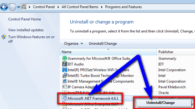 Uninstall the .NET framework and reinstall it again Runtime Error r6025