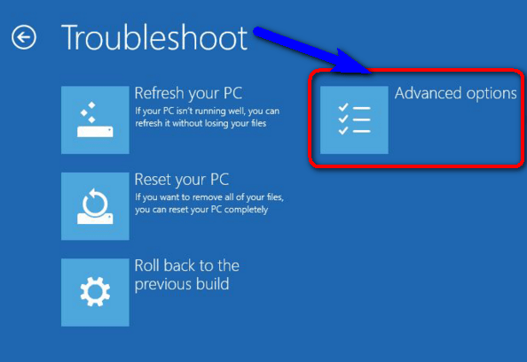 Use Windows Troubleshoot INACCESSIBLE_BOOT_DEVICE