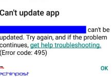 Error Code 495
