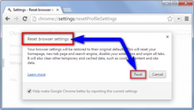 Reset your Browser Settings