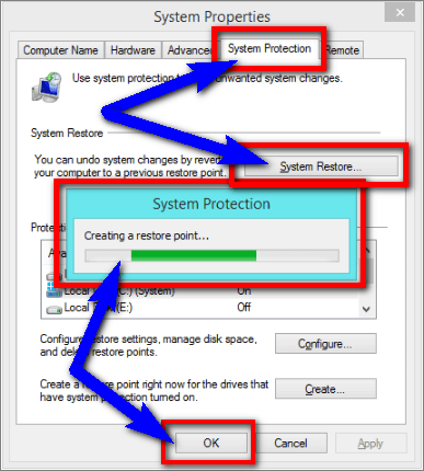 Run System Restore & Create a Restore Point BAD_SYSTEM_CONFIG_INFO