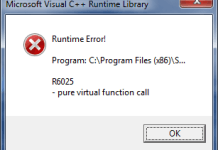 Runtime Error r6025