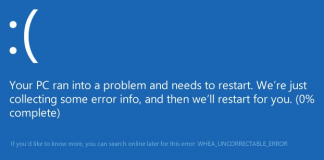 WHEA_UNCORRECTABLE_ERROR