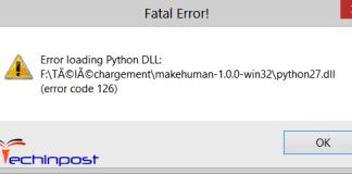 Error Code 126