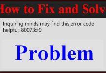 Error Code 0x80073cf9