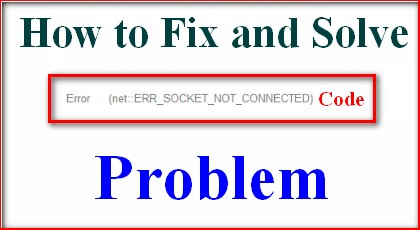 [SOLVED] Error ERR_SOCKET_NOT_CONNECTED Code Problem