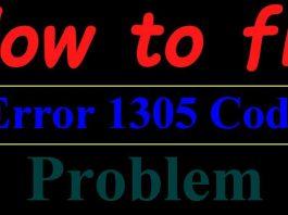 Error 1305