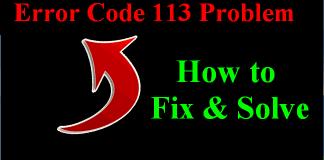 Error 113