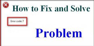 Error Code 7