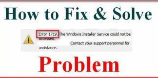 Error 1719