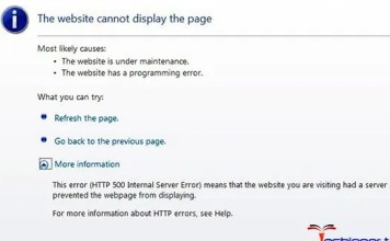 HTTP 500 Internal Server Error