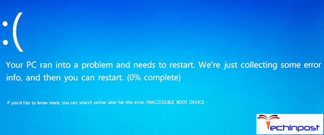 INACCESSIBLE_BOOT_DEVICE