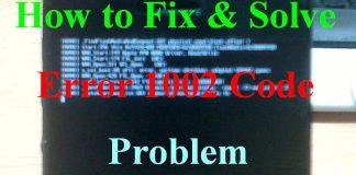 Error 1002