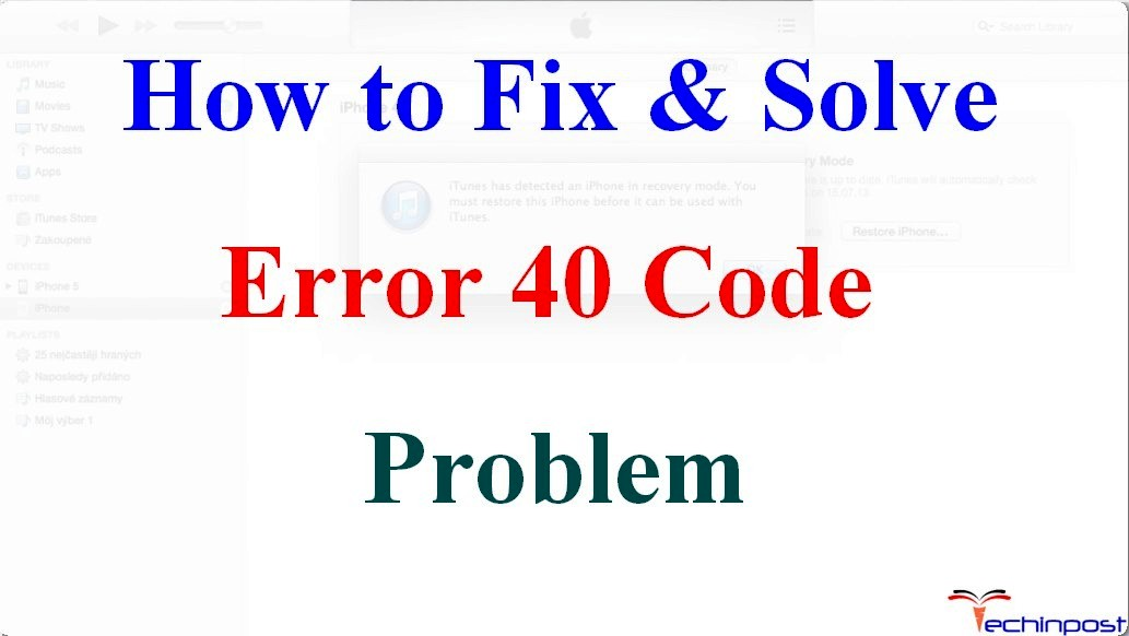 [SOLVED] Error 40 Code Problem Instantly (100% Working)