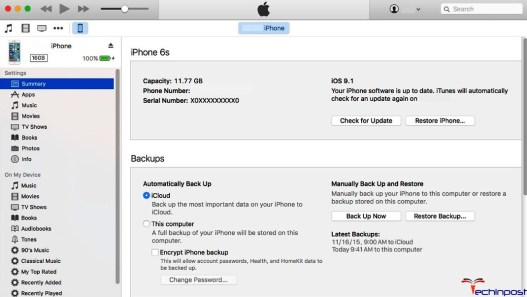 By Using the Apple iTunes