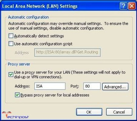 Configure an alternate Port for outbound Web Request