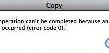 Error Code 0