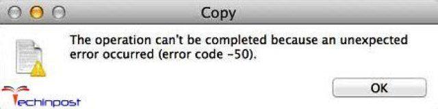 Error Code 50