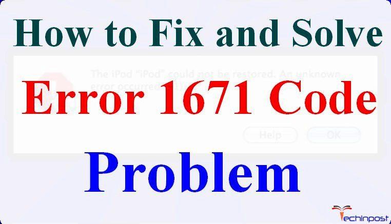 iphone restore error 1671