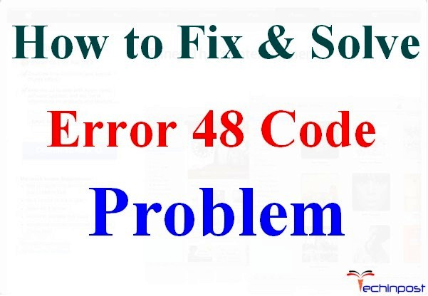 [SOLVED] Error 48 Code Problem Instantly (100% Working)