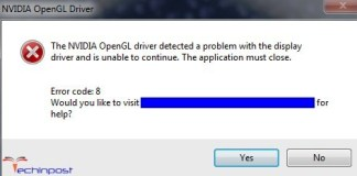 Error Code 8