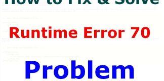 Runtime Error 70