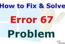 Error 67