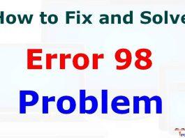 Error Code 98
