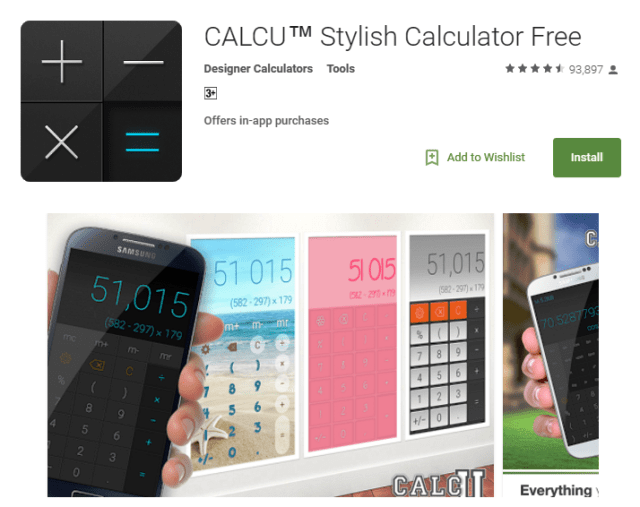 CALCU Android Apps for Students