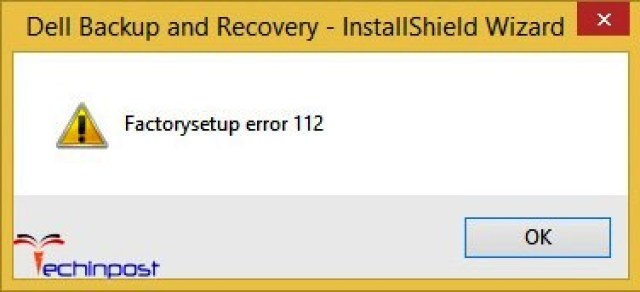 Error 112
