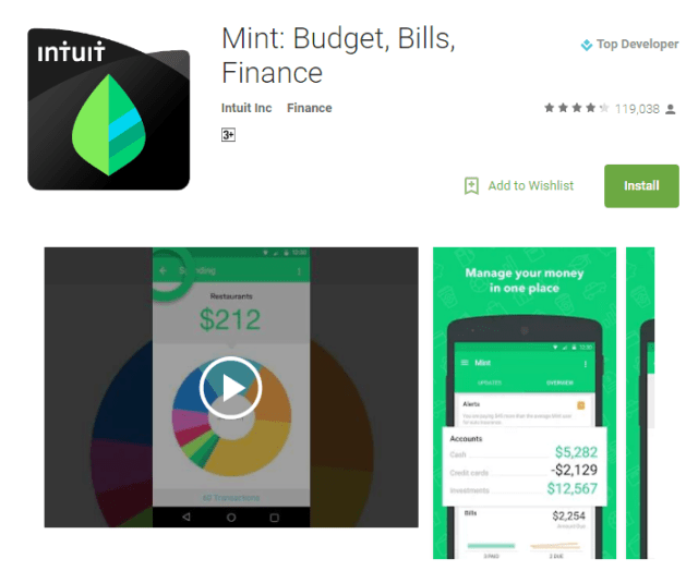 Mint Android Apps for Students