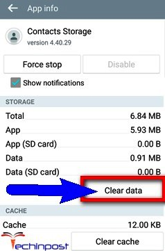 Clear Contacts Storage from your Device Unfortunately The Process Android.Process.Acore Has Stopped