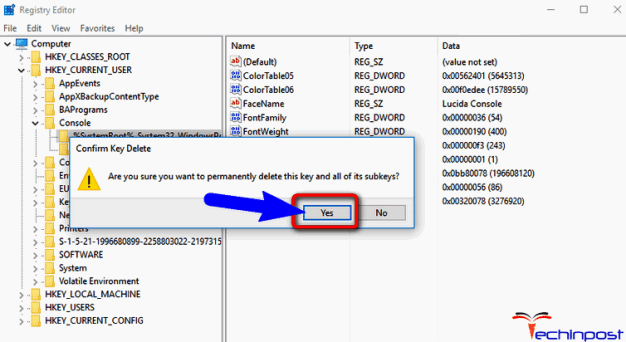 Delete the Pre-Existing Driver Files from Registry
