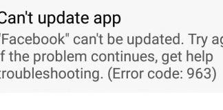 Error Code 963