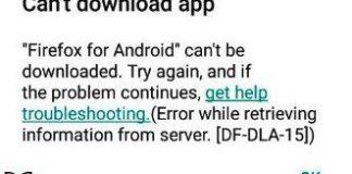 Error DF-DLA-15